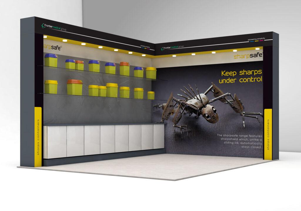 Sharpsafe walk in exhibition stand