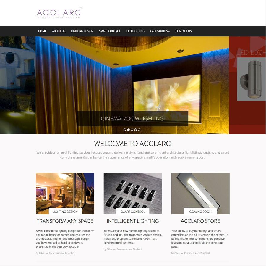 acclaro web design