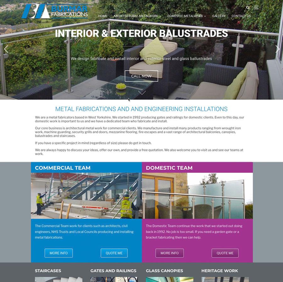 Burmar Fabrications website